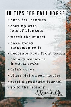 10 Tips for Fall Hygge - A Knack for Life - 10 Tips to make the most cozy autumn! Autumn Cozy, Autumn Fall, Herbst Bucket List, Vie Simple, Hygge Christmas, Hygge Life, Fall Candles, Self Care Activities, Slow Living
