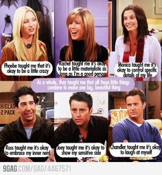 Friends tv show. They're all very true but the whole inner nerd thing really speaks to me;) lol