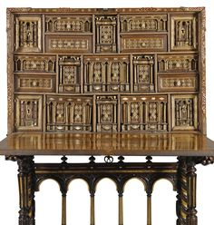A Spanish gilt-metal-mounted walnut Vargueno<br>17th century | lot | Sotheby's