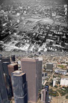 Aerial views of Bunker Hill and the Civic Center,1955-c.2013