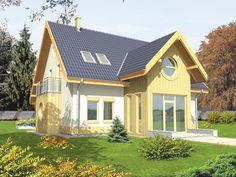 Projekt domu AC Poziomka - DOM AE2-15 - gotowy projekt domu Home Fashion, Cabin, House Styles, Home Decor, Facades, Projects, Decoration Home, Room Decor, Cabins