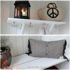 DIY gang - hylle og benk Nest, Bench, Storage, Diy, Furniture, Home Decor, Nest Box, Purse Storage, Decoration Home