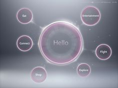 """Concept interface design for """"Generic Airlines"""" entertainment system."""