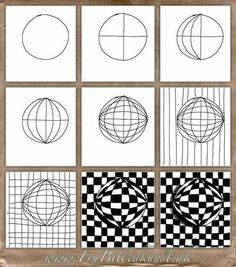 Op Art Kugler – www. Optical Illusions Drawings, Optical Illusion Quilts, Illusion Drawings, Art Optical, Art Drawings, Optical Illusions For Kids, Op Art Lessons, Art Lessons Elementary, Illusion Kunst