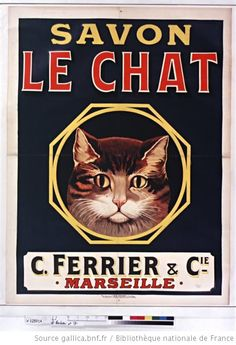 Savon Le Chat Black Canvas Wall Art by Vintage Apple Collection Pub Vintage, Vintage Cat, Vintage Labels, Vintage Posters, Style Vintage, French Posters, Vintage Dior, Vintage Prints, Cat Posters