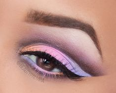 Pastell Cut-Crease Make-up
