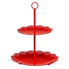 Premier Housewares Red Cake Stand – 0508390 – Add a touch of warmth and luxury to your home with the red collection of homeware and cookware from Premier Housewares, a leading supplier and distributor to the retail trade of kitchenware, tabletop & bathroom accessories, soft furnishings, decorative accessories, lighting and occasional furniture. Purchase from a host of online stores and independent local retailers and please visit http://www.premierhousewares.co.uk for trade enquiries.