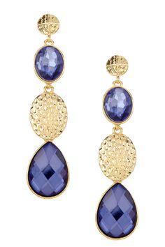 Multi-Texture Alternating Drop Earrings