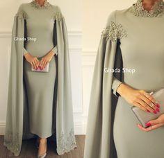 Krikor Jabotain Spring / Summer 2014 - Belle the Magazine . Hijab Evening Dress, Hijab Dress Party, Hijab Outfit, Evening Dresses, Summer Dresses, Muslim Prom Dress, Abaya Fashion, Muslim Fashion, Modest Fashion