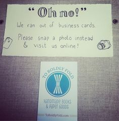 An interesting emergency measure for when you've run out of Business Cards.  This idea may have worked even better if the last remaining card was NFC-enabled, so that Smartphone users could have been instantly directed to the business website with a simple tap of the phone!  Don't leave it too late to top up your own supplies. Business Cards and NFC Cards are available from Martin Print.