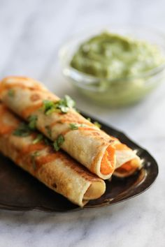 Sweet Potato & Lime Taquitos recipe    Tangy, sweet, and a tad bit spicy. The perfect taquito for just about any occasion!    @thismessisours #glutenfree #vegan