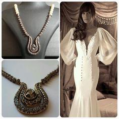 Yaki Ravid Wedding Dress & BrideIstanbul Necklace
