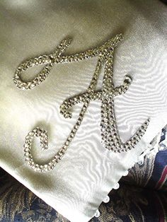 Handmade letter, and crystallized with Swarovski crystals