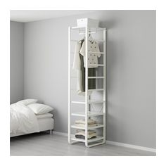 $216 - IKEA - ELVARLI, Shelf unit, You can always adapt or complete this open storage solution as needed. Maybe the combination we've suggested is perfect for you, or you can easily create your own.Adjustable shelves and clothes rail make it easy for you to customize the space according to your needs.