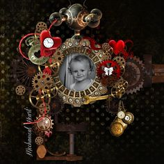 """My page with """"La Mécanique du Coeur"""" by Kitty Scrap"""