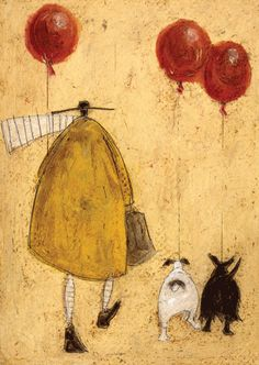 Wish I could find a canvas print of this! Love it! BALLOONS CARD BY SAM TOFT