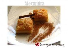 Τη συνταγή αυτή μου την έδωσε πριν χρόνια μια φίλη μου η Γεωργία που είχε ζαχαροπλαστείο.  Έκτοτε την έχω κάνει άπειρες φορές και οι εντυπώσεις ήταν άριστες.  Μοιάζει πολύ με το γνωστότερο γαλακτομπούρεκο της Αθήνας.