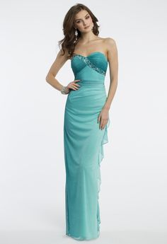 Camille La Vie Strapless Prom Dress