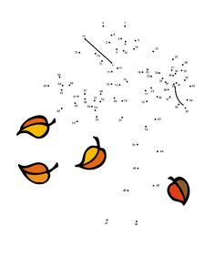 Free Printable Fall Tree Dot-to-Dot Puzzle