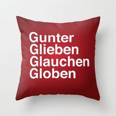 Def Leppard - Rock of Ages - Gunter Glieben Glauchen Globen Throw Pillow by AudioVisuals - $20.00