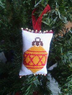 Christmas ornaments Cross stitch christmas by SiuziDesigns on Etsy