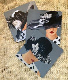 Designer Women Coaster set by LynnNeuman on Etsy