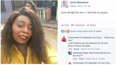 FUTO: Female graduate dies after leaving her Facebook audience with a bizzare post (Photo) -  Click link to view & comment:  http://www.naijavideonet.com/futo-female-graduate-dies-after-leaving-her-facebook-audience-with-a-bizzare-post-photo/