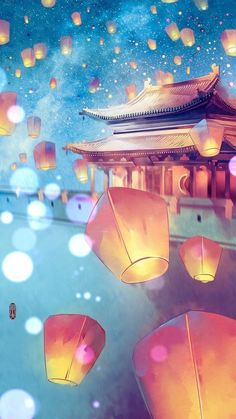 Motif idea for painting The post Motif idea for painting autumn scenery appeared first on Trendy. Art Anime, Anime Kunst, Fantasy Landscape, Landscape Art, Watercolor Landscape, Watercolor Art, Asian Landscape, Fantasy Kunst, Fantasy Art