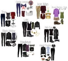 avenger inspired outfits. these make my life.