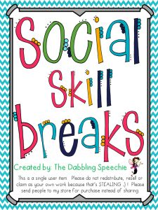 Great social skills activities to use during lunch bunch and social skills groups or as a quick break in a classroom setting.
