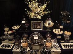 Black and White Lolly Buffet by Sweet Buffets