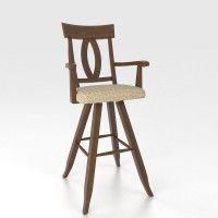 """Canadel - High Dining - Swivel Barstool 30"""" with arms"""