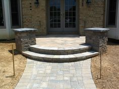 Brick Paver Stoops - Emerald Landscaping