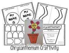 FREE Chrysanthemum craftivity!  Perfect for first week of school!
