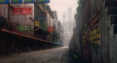 art anime japan movie Ghost in the Shell Mamoru Oshii background art new port city