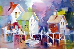 Watercolors Houses ~ Carol Jessen