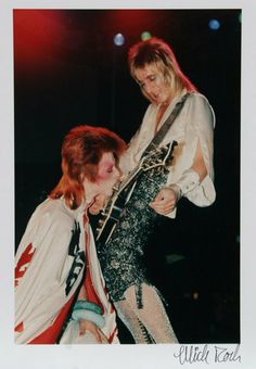 David Bowie and Mick Ronson Color Photograph by Mick by rogallery, $1500.00