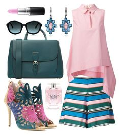 """tender soul"" by unchie18 on Polyvore featuring Miss Selfridge, Marni, Oscar de la Renta, Burberry, Victoria's Secret, MAC Cosmetics, Pink, Blue and teal"