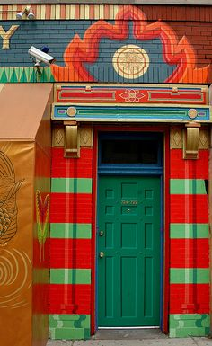 Funky #door to Buddha Lounge on Grand Avenue in Chicago, Illinois.
