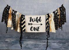 Wild One Birthday Banner Aztec Tribal Decor Boys Nursery Photo Prop Backdrop Cake Smash High Chair Banner First Birthday