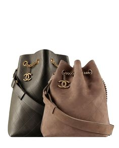 872c588093ed 2016 newest collection Chanel ultra solf smooth calfskin leather bucket bag  and suede drawstring bag Chanel