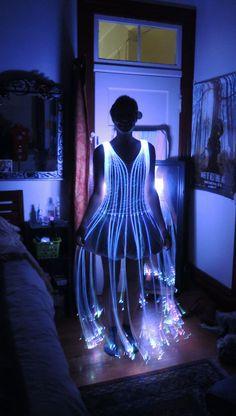 Fiber Optic Dress by Natalina