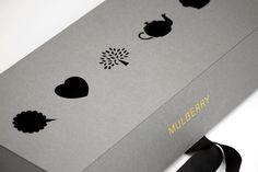 Mulberry packaging by http://constructlondon.com/projects/mulberry-branding