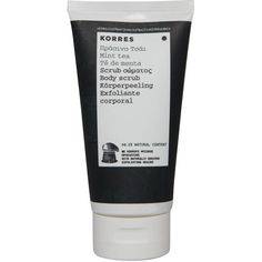 Korres Mint Tea Body Scrub 150ml (22 CAD) ❤ liked on Polyvore featuring beauty products, bath & body products, body cleansers, fillers, beauty, makeup, cosmetics, black fillers and korres