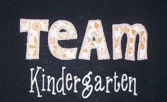 Trendy Team Kindergarten School Shirt Teacher by trendyembroidery. $18.00, via Etsy. @RachealStewart