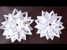 SNOWFLAKE #4, 3 layer snowflake, paper folding, Christmas star ornament,...