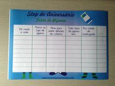 Stop - Aniversário - Festa do Pijama Menino