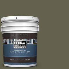 BEHR Premium Plus Ultra 5-gal. #400F-7 Groundcover Satin Enamel Exterior Paint
