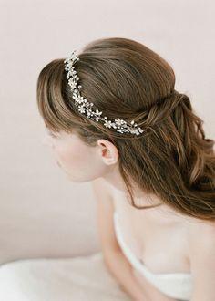 Tiny Enamel Blossom Hair Vine