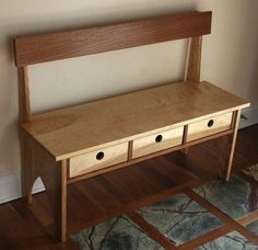 We love this hall bench with storage!